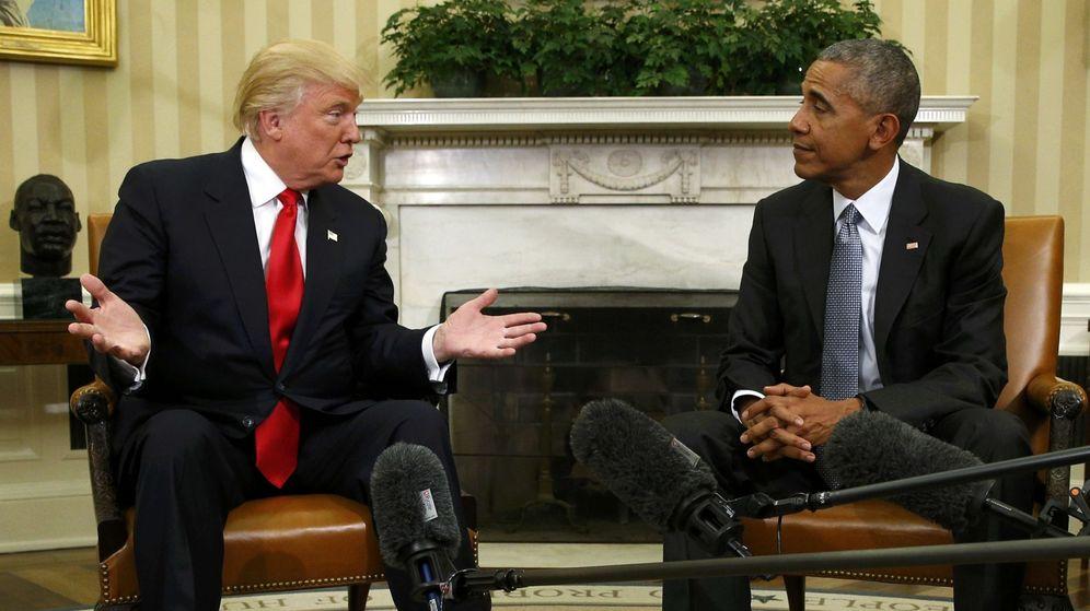 Foto: Primer encuentro entre Trump y Obama en la Casa Blanca. (Reuters)