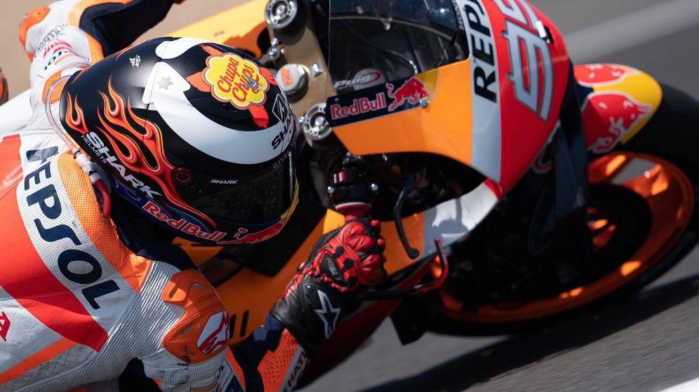 Foto: Jorge Lorenzo sobre su Honda en Jerez. (@Lorenzo99)