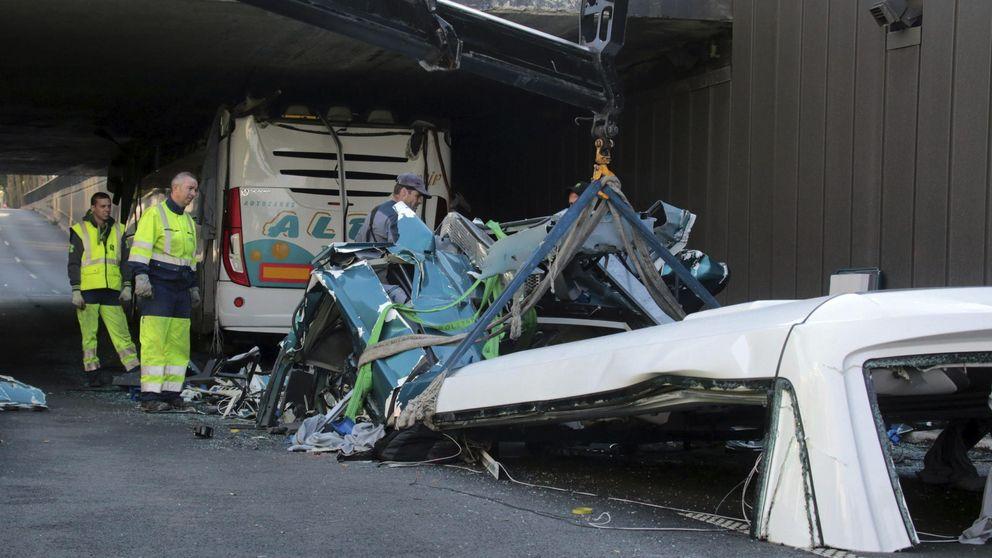 Seis heridos graves en el accidente de un autobús español en Francia