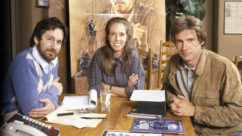 Spielberg, Melissa Mathison y Harrison Ford. (CP)