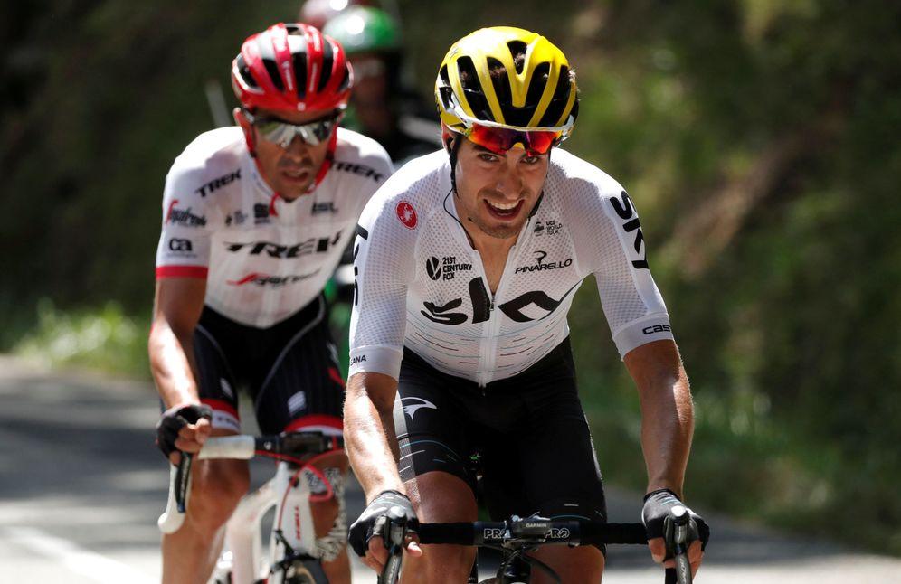 Foto: El mejor ataque del Tour, protagonizado por Contador y Landa. (Reuters).