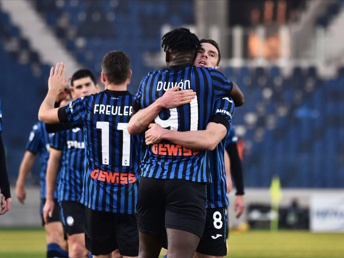 Foto: El Atalanta celebra un gol reciente. (EFE)