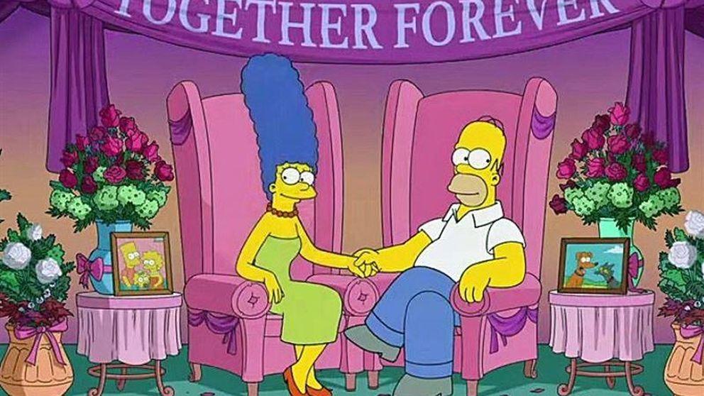 'Los Simpson' - Homer y Marge desmienten su divorcio en primera persona