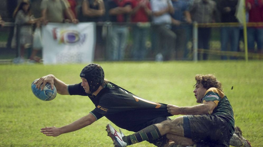 Foto: Imagen de archivo de un partido del Gernika de rugby.