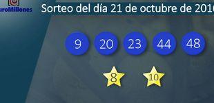 Post de Resultados del sorteo del Euromillones del 21 de octubre
