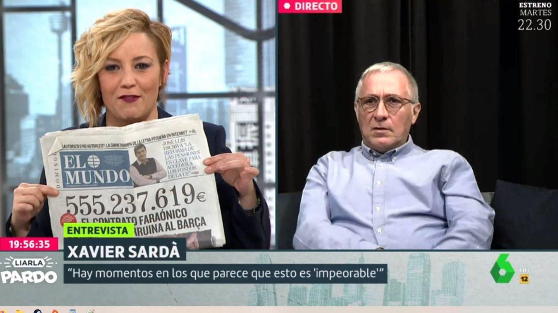 Pardo y Xavier Sardà, en La Sexta. (Atresmedia).