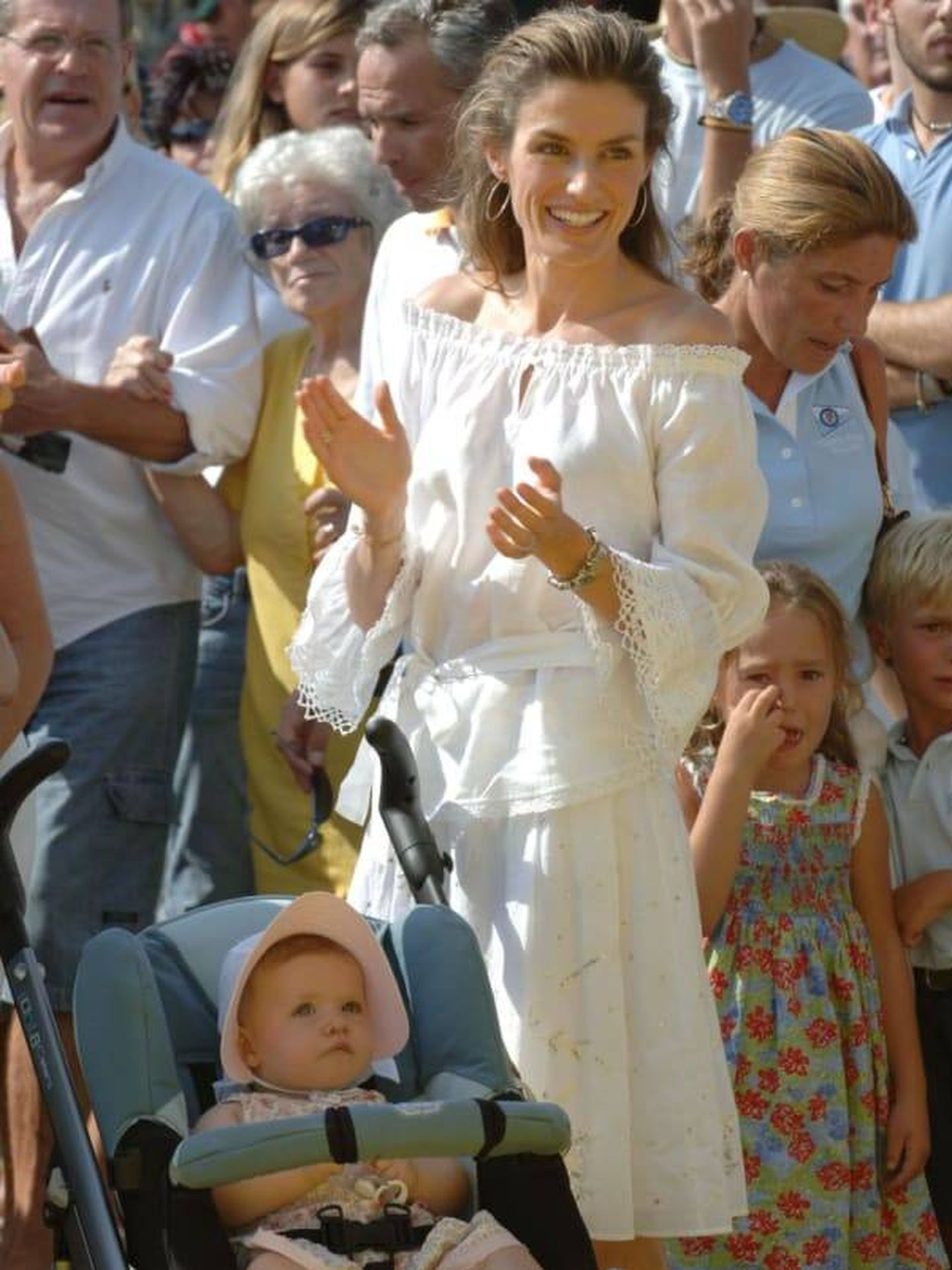 Letizia, en 2006 en Mallorca. (Getty)