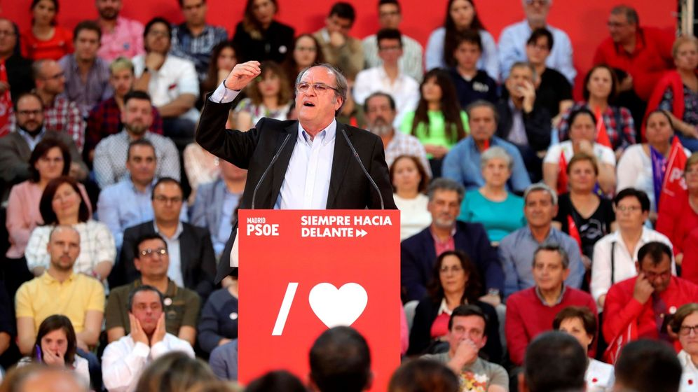 Foto: Ángel Gabilondo, en un acto electoral del PSOE. (EFE)