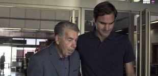 Post de La tradición de Manolo Santana con Federer cada vez que el suizo juega en Madrid