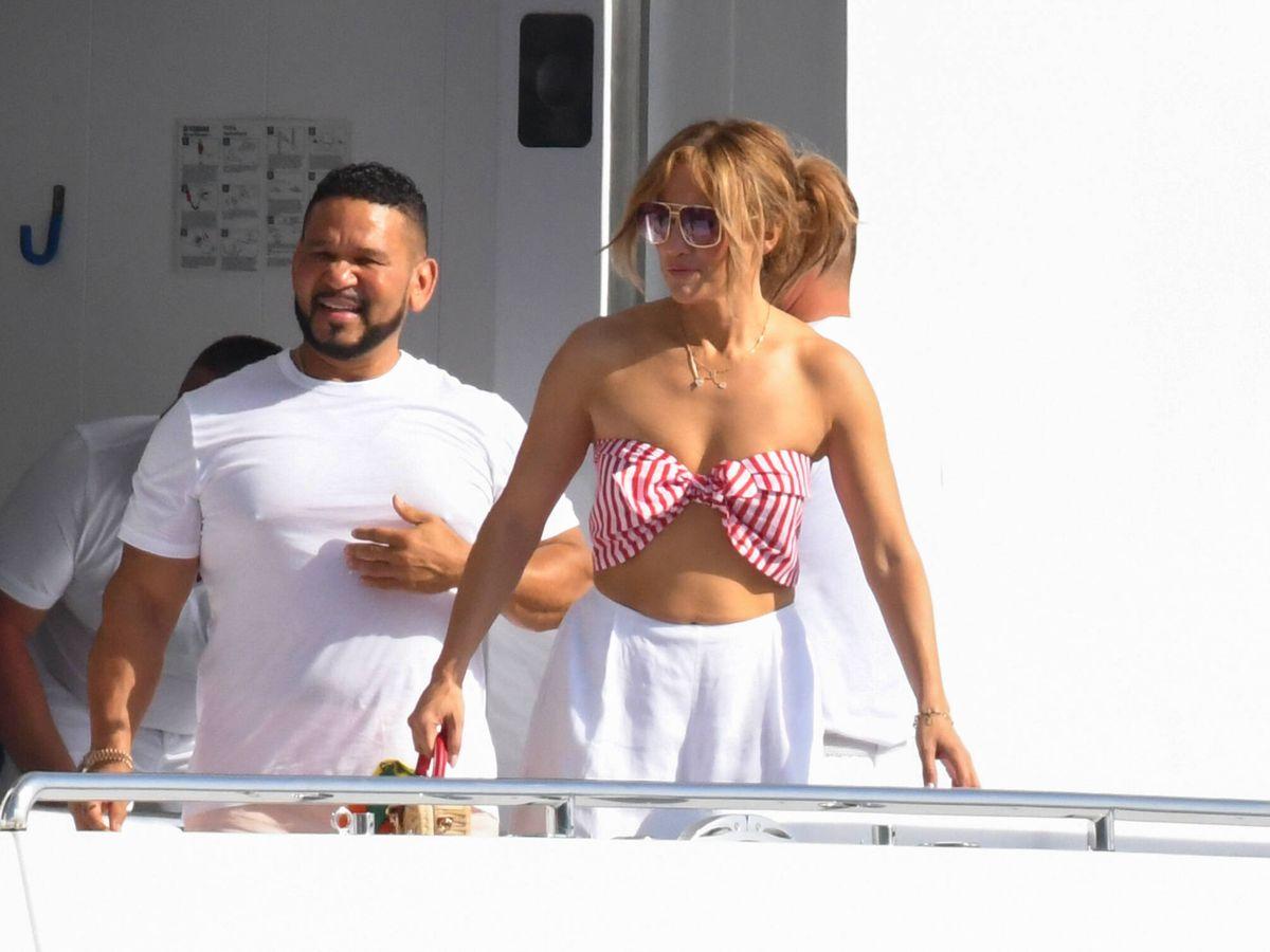 Foto: Jennifer Lopez, en la Costa Amalfitana. (Contacto Photo)