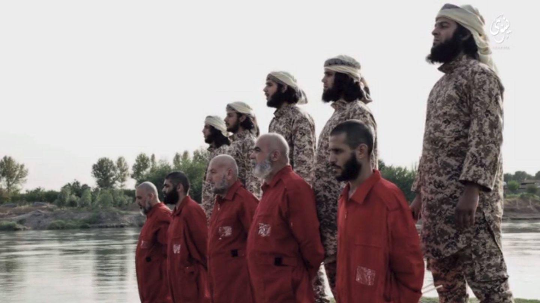 Captura de pantalla de un vídeo de propaganda del ISIS que muestra una ejecución en la provincia de Nínive