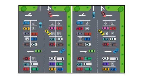 Acertijo viral: ¿eres capaz de encontrar las 10 diferencias que hay en el parking?