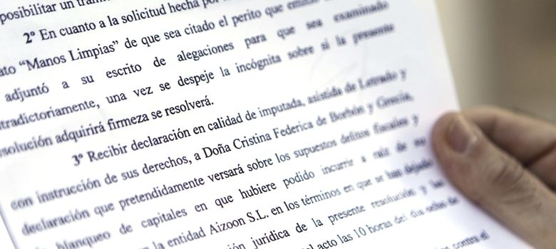 Foto:  El juez Castro ha citado a declarar como imputada a la infanta Cristina. (EFE)