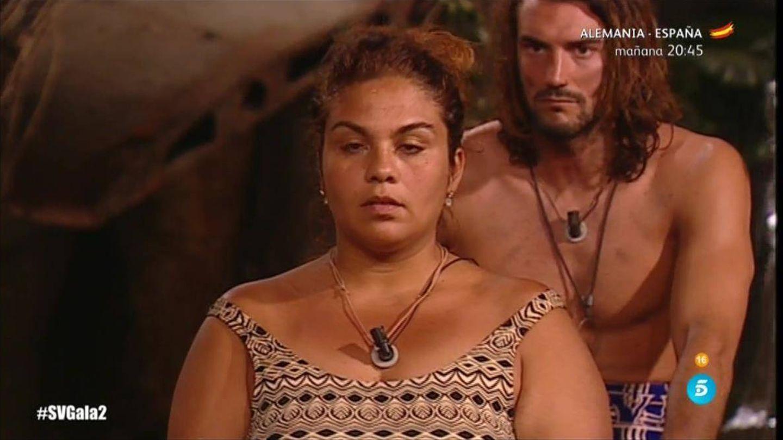 Saray Montoya amenaza con abandonar 'Supervivientes'. (Telecinco)