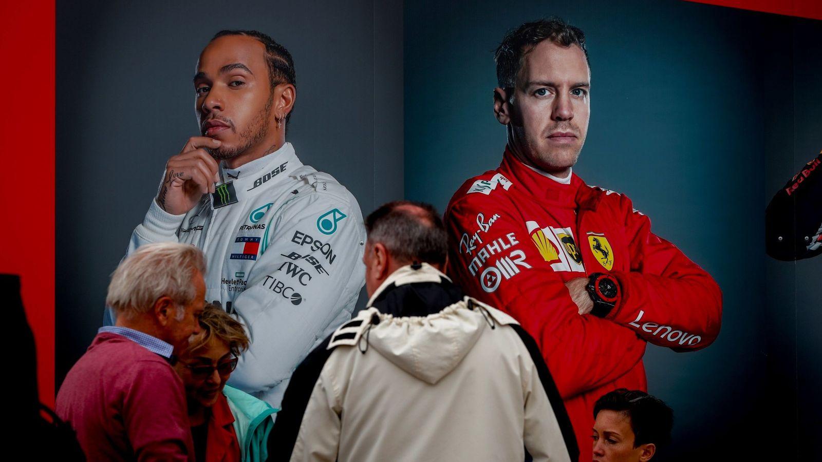 Foto: Hamilton y Vettel, en un cartel promocional para el pasado GP de Australia (EFE)