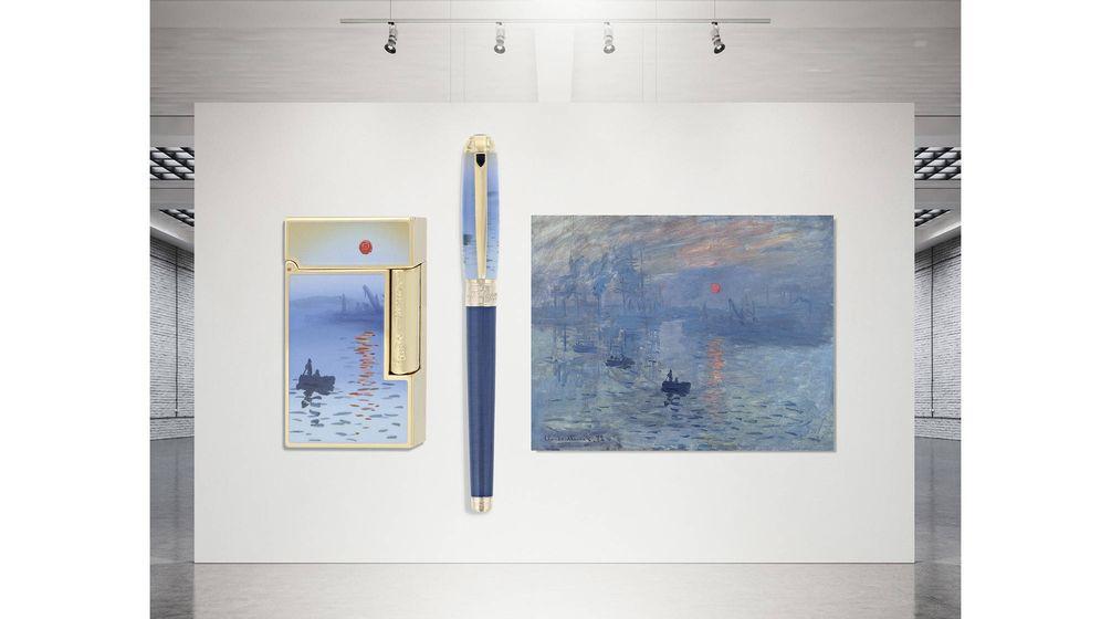 Foto: S.T. Dupont rinde homenaje a uno de los pintores más influyentes de la historia del arte, Monet, el creador del impresionismo.
