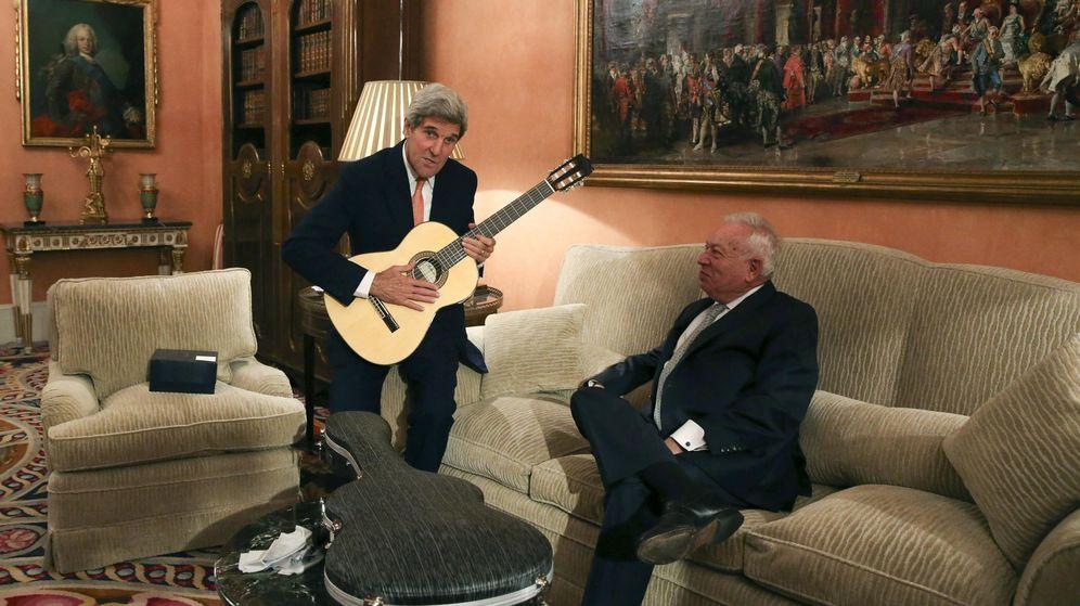 Foto: Margallo durante una entrevista con el secretario de Estado estadounidense, John Kerry, hace unas semanas. (Reuters)