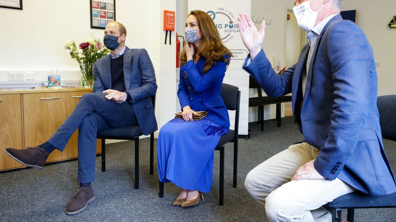 Los duques de Cambridge, en Escocia  este lunes. (Reuters)
