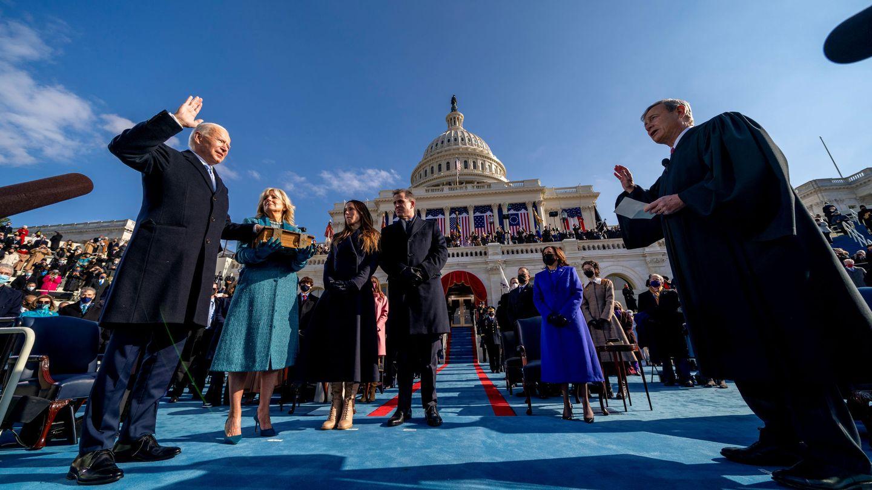 Joe Biden, en la jura del cargo como 46 presidente de Estados Unidos. (Reuters)