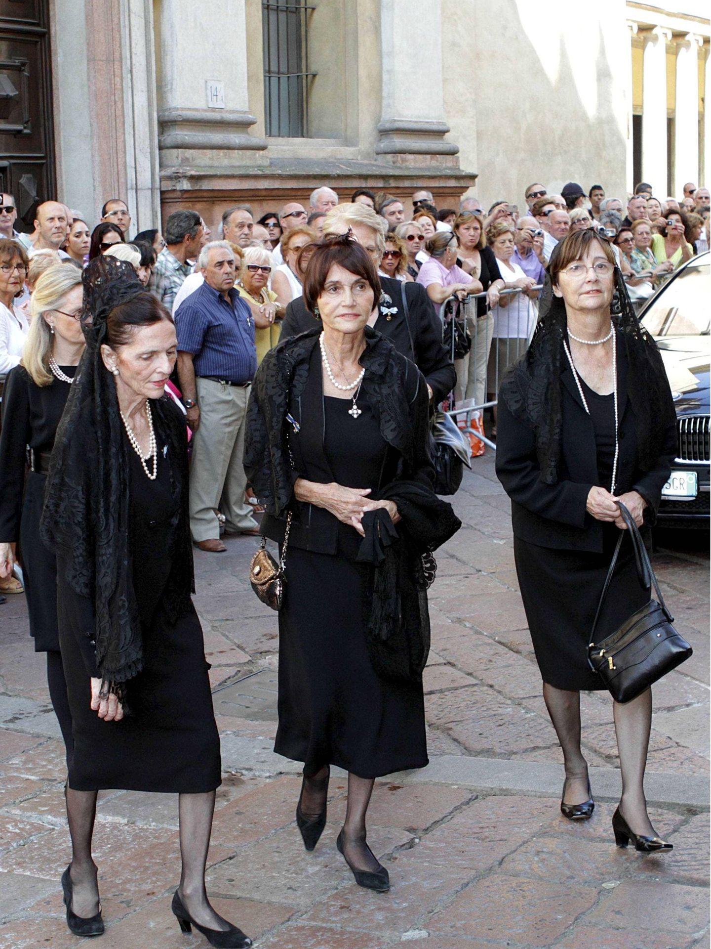María Teresa de Borbón-Parma, en el funeral de Carlos Hugo de Borbón-Parma. (Cordon Press)