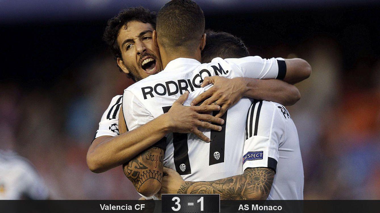 Foto: El Valencia (con nuevo toque a Nuno y algún fantasma) roza la Champions League