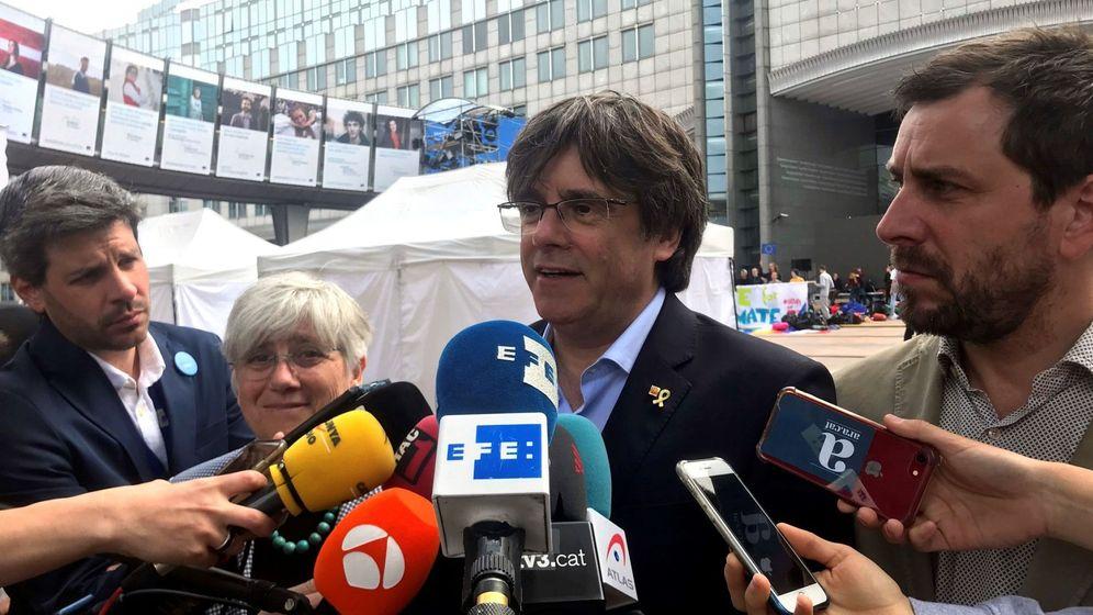 Foto: Puigdemont, junto a Ponsatí y Comín. (EFE)