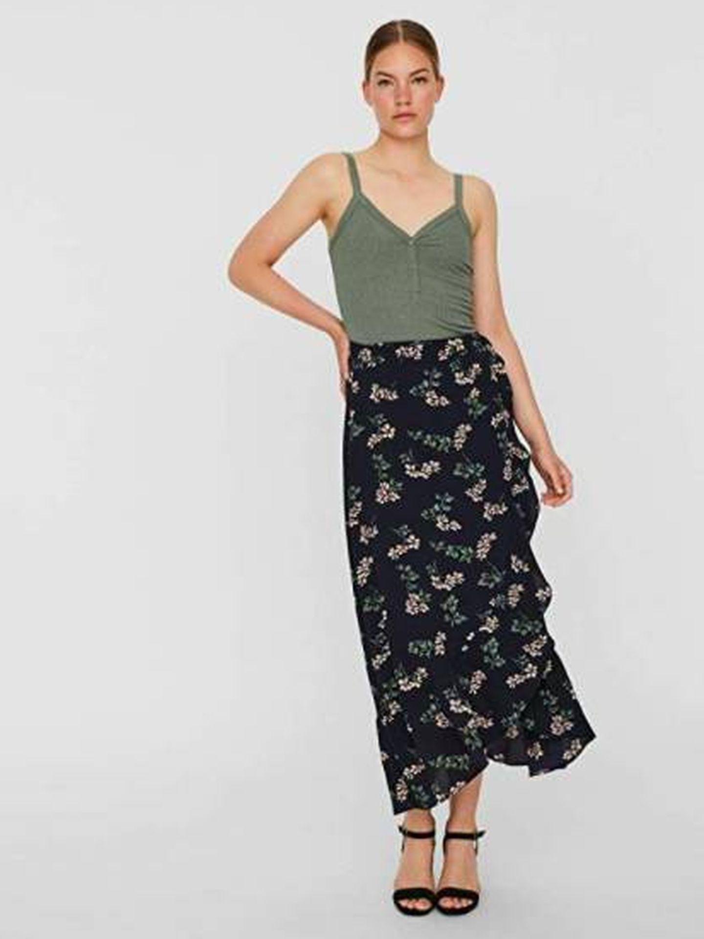 Falda de Vero Moda. (Cortesía)
