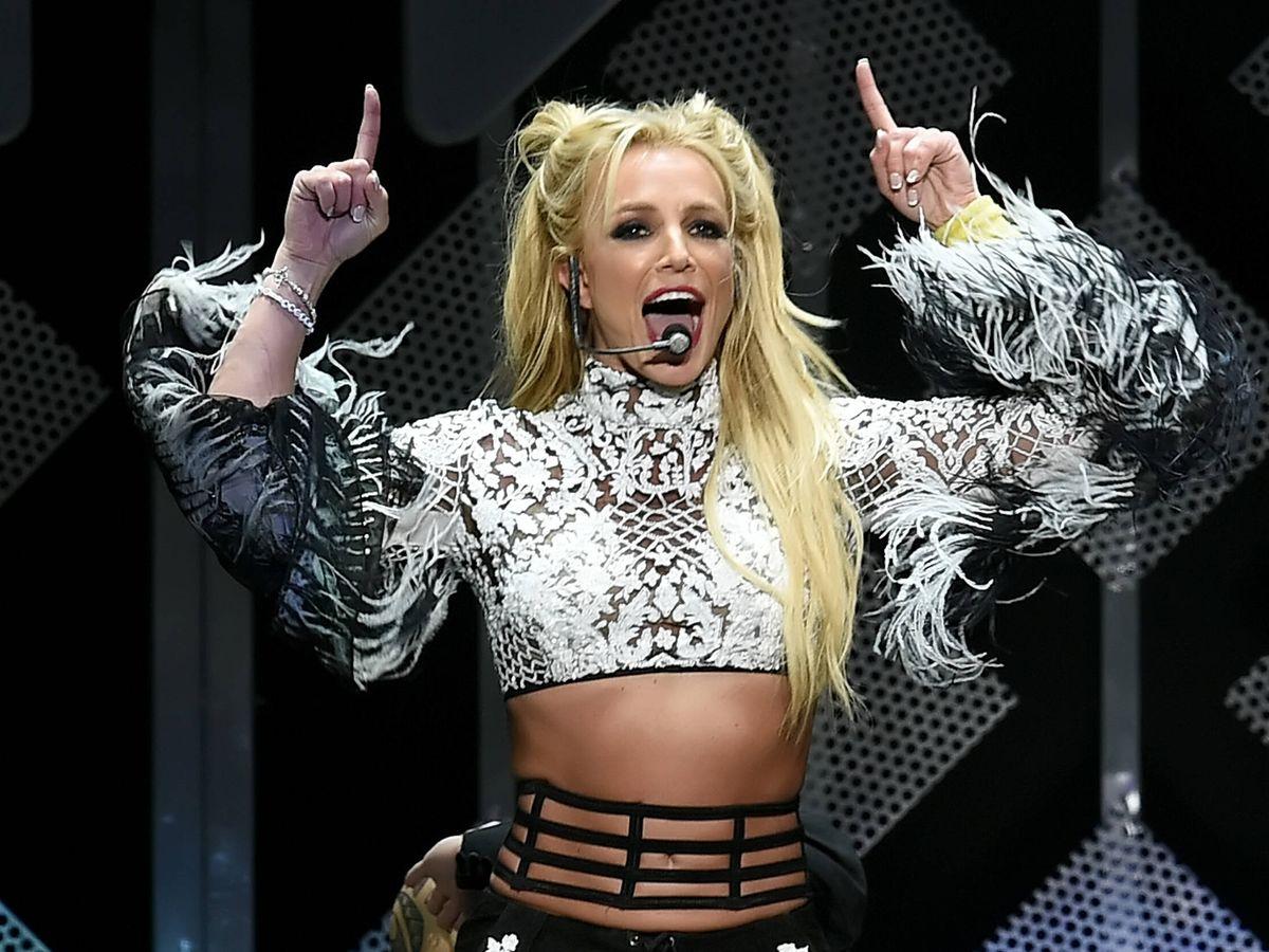 Foto: Britney Spears durante un concierto. (Getty)