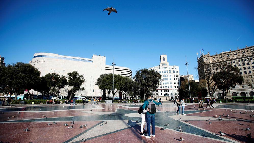 Foto: Vista de la plaza de Cataluña de Barcelona. (EFE)