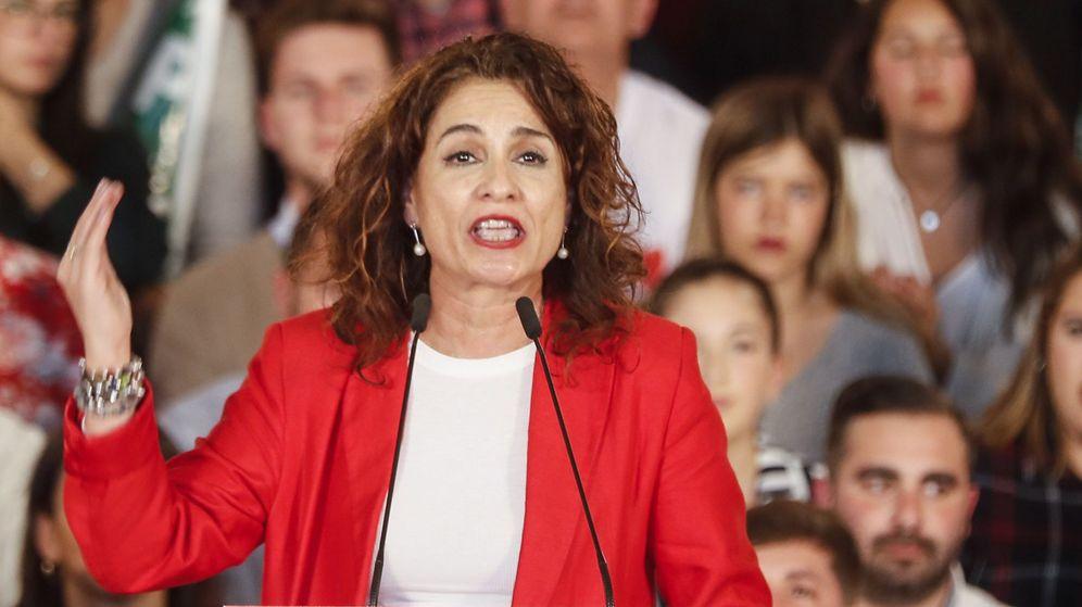 Foto: Mitin de la ministra de Hacienda en funciones, María Jesús Montero. (EFE)