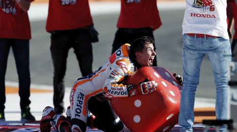 Márquez se proclama campeón del mundo por sexta vez en una loca carrera en Valencia