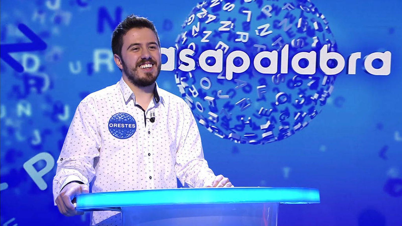 Foto: Orestes Barbero, concursante burgalés de 'Pasapalabra'. (Mediaset)