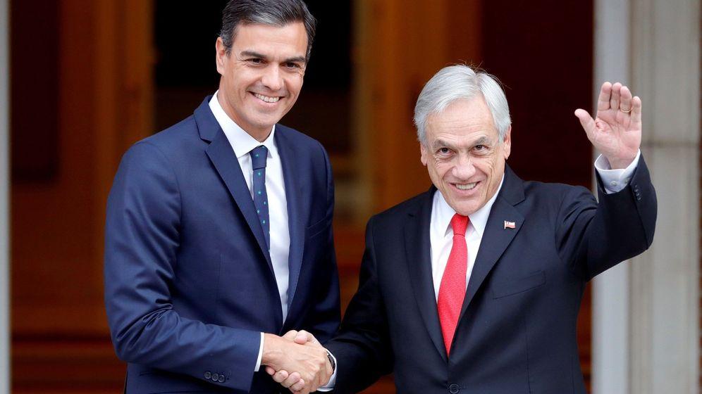 Foto: Pedro Sánchez y Sebastián Piñera