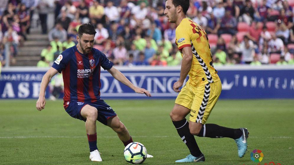 Foto: El partido investigado entre el Huesca y Nàstic. (Foto: Liga 123)