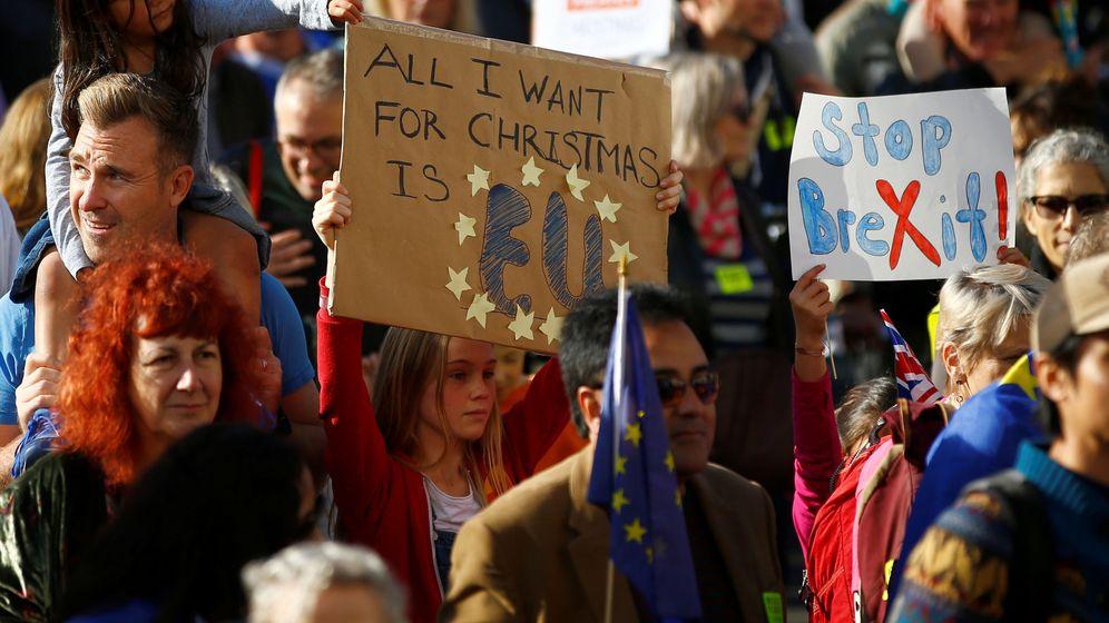 Foto: Imagen de un momento de la protesta en las calles de Londres. (Reuters)