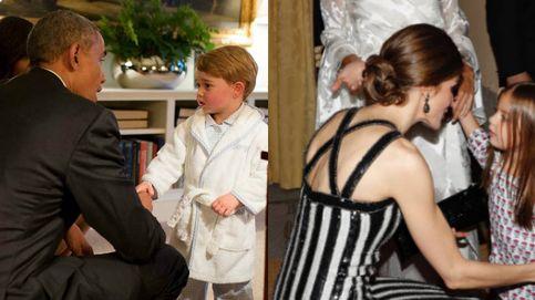 La hija de Macri emula al príncipe George y saluda en pijama a Letizia