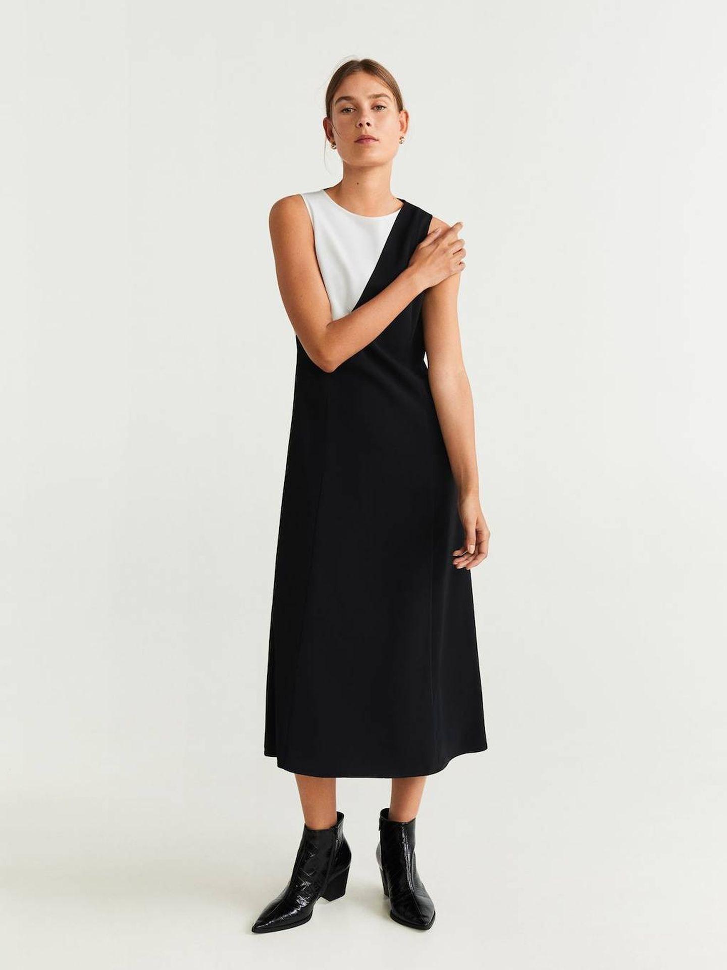 Uno de los cuatro vestidos de Mango Outlet. (Cortesía)