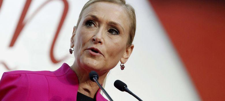 Foto: La delegada del Gobierno, Cristuna Cifuentes, en su reaparición pública. (EFE).