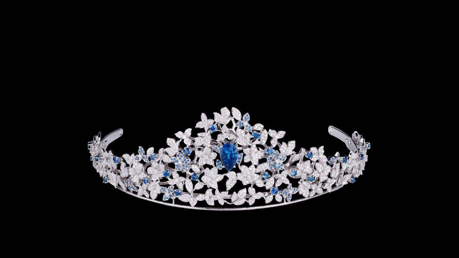 Foto: La nueva tiara de Marie de Dinamarca. (Cortesía de Maison Mauboussin)