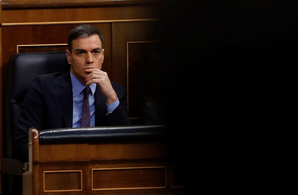 Foto: Pedro Sánchez, este 19 de febrero durante la sesión de control al Gobierno en el Congreso. (EFE)