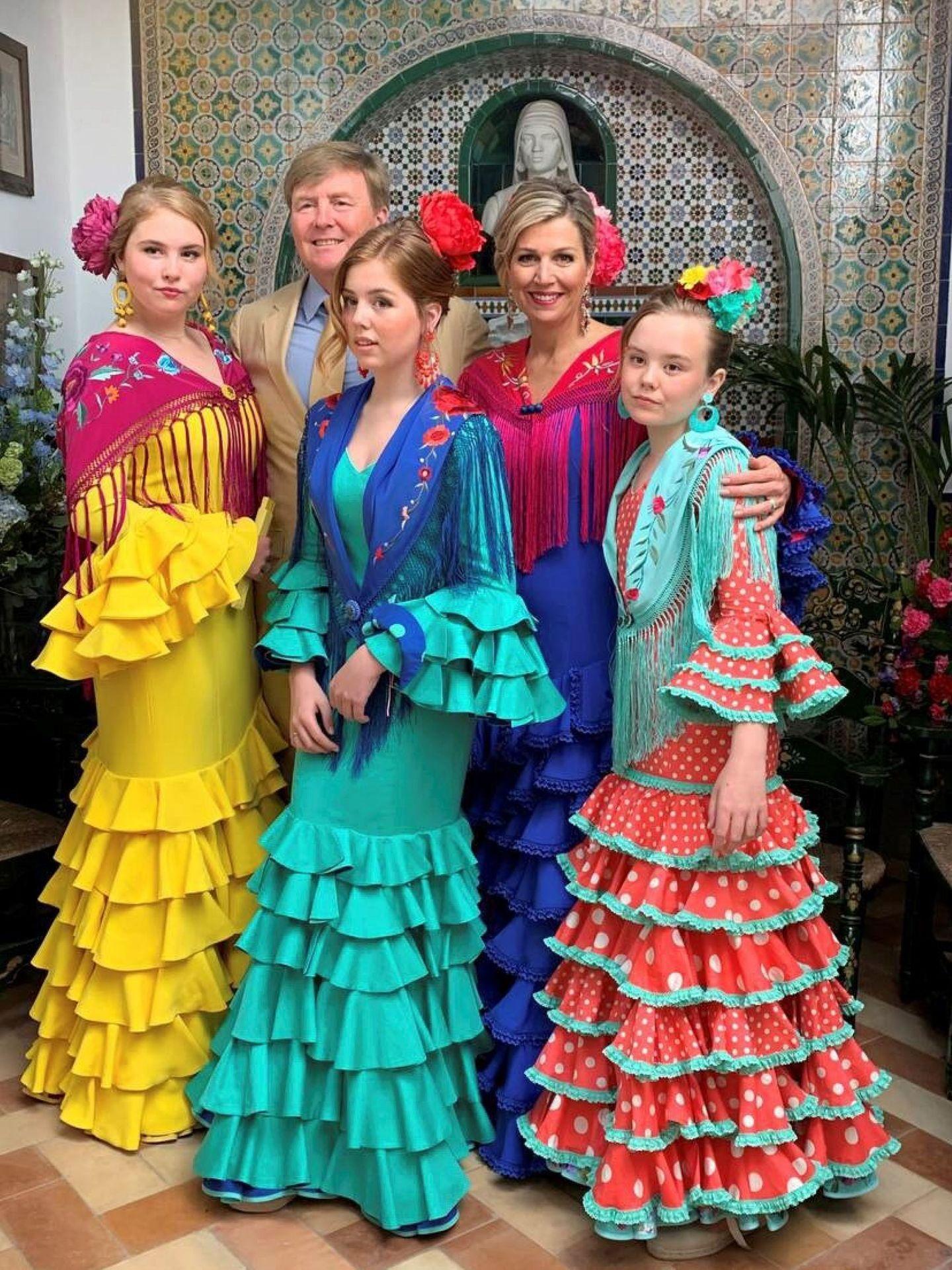 Fotografía elegida por la familia real holandesa para la felicitación de Navidad. (EFE)