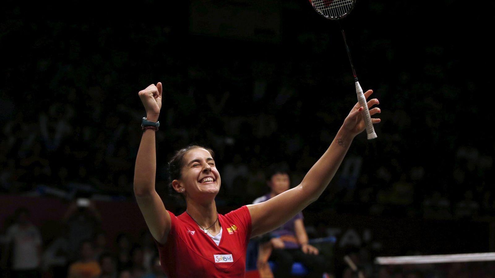 Foto: Carolina Marín volvió a colocar al deporte español en lo más alto (Reuters)