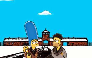 'Los Simpson' caracterizados como prisioneros de Auschwitz