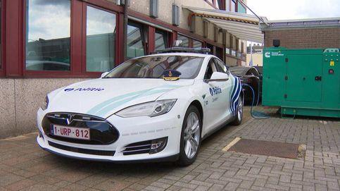 ¿Está cargando la policía belga sus Tesla con generadores diésel? No, pero no es tan loco