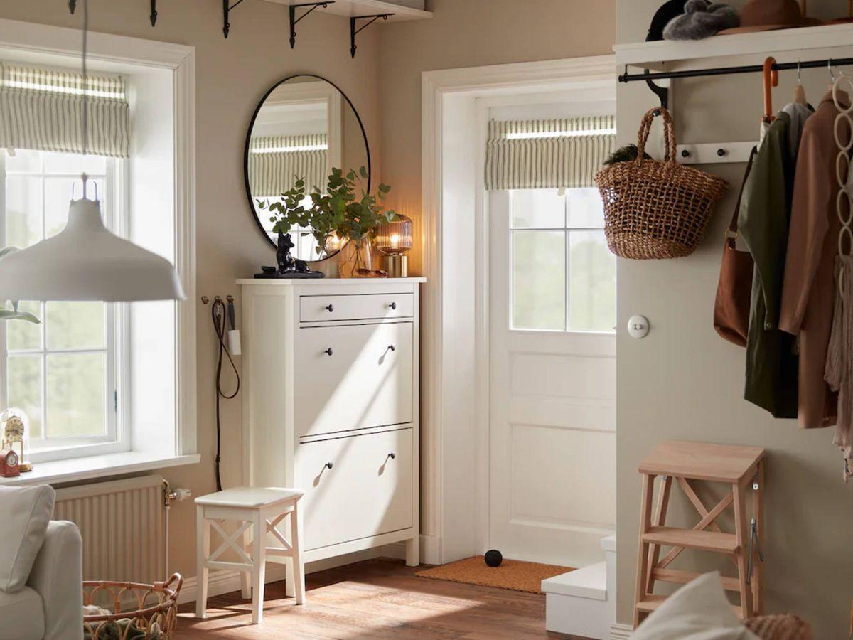 Foto: Soluciones de decoración de Ikea para una entrada pequeña. (Cortesía)