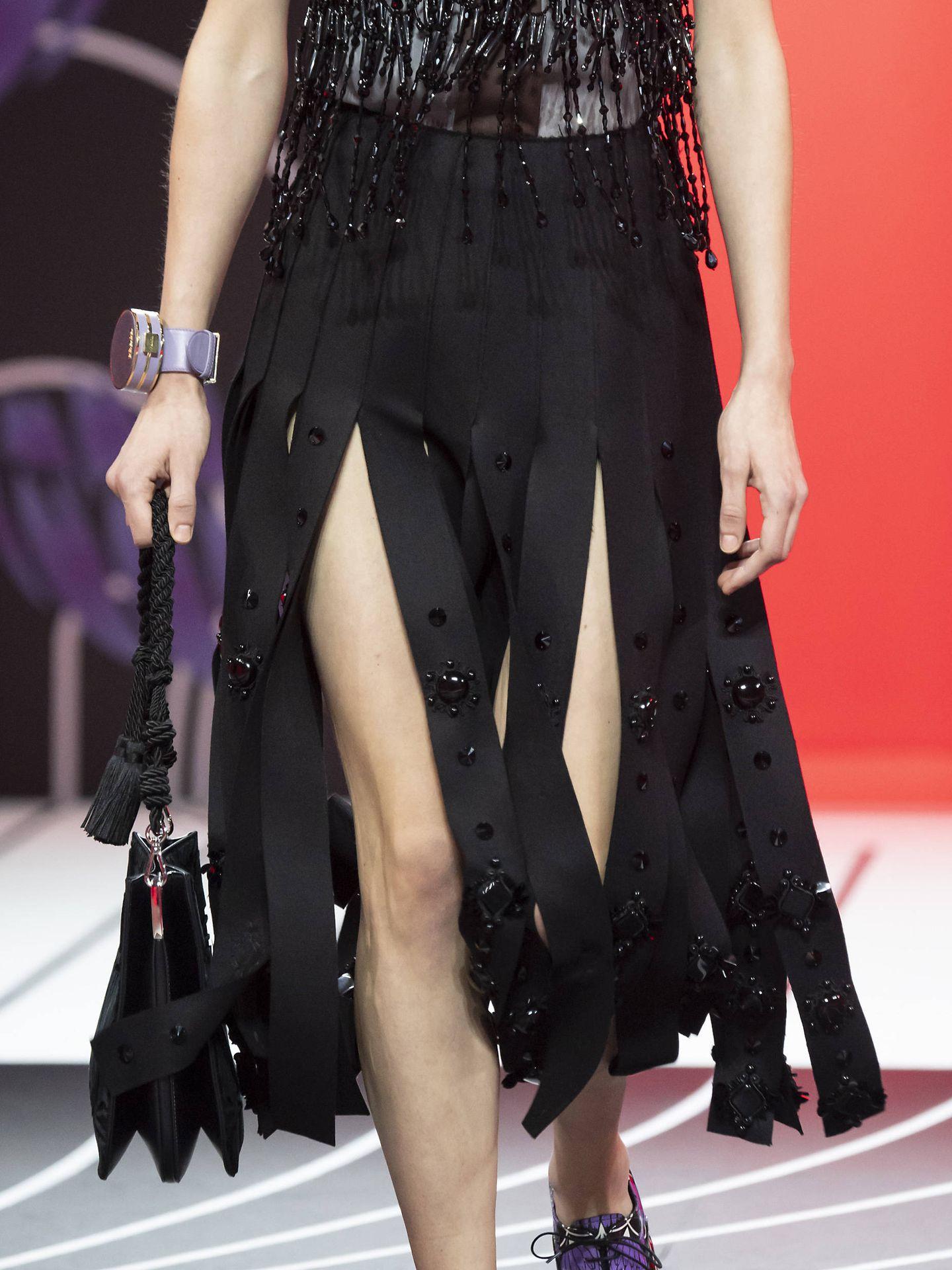 La falda en el desfile de Prada. (Imaxtree)