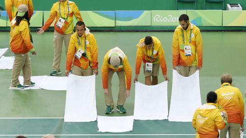La lluvia suspende la jornada de tenis en Río