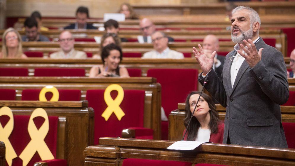 Foto: Carlos Carrizosa, portavoz de Cs, durante una sesión en el Parlament. (EFE)