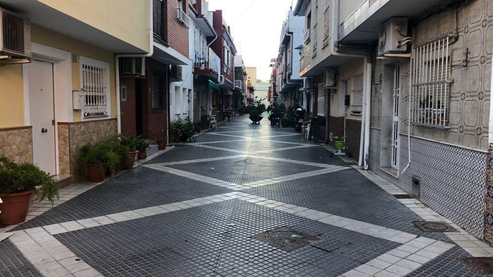 Foto: Imagen de la zona donde vive la familia de Yulen en el barrio de El Palo (Agustín Rivera).