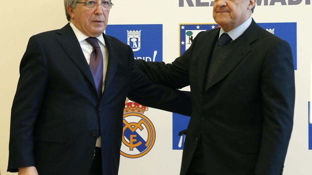 Foto: Enrique Cerezo y Florentino Pérez, presidentes de Atlético y Madrid, respectivamente (Efe).